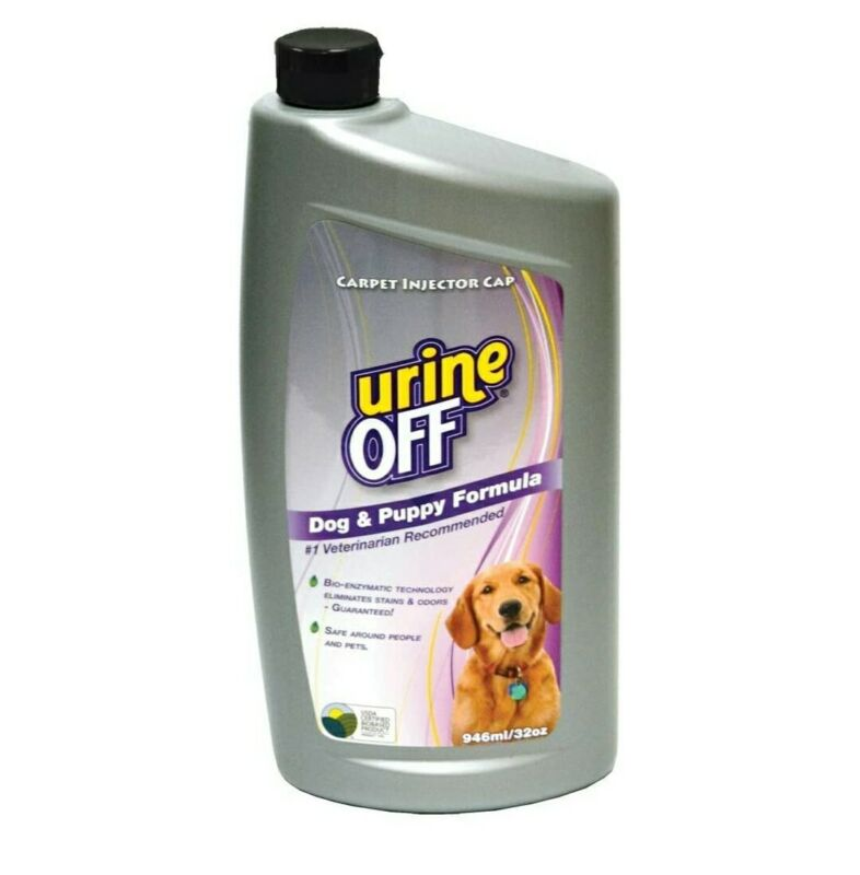 Urine Off Dog & Puppy Formula Bottle w/Carpet Injector Cap 32oz