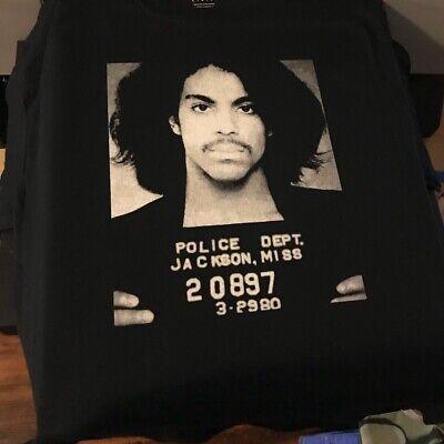 Prince Purple Rain Mugshot T-Shirt Size Small