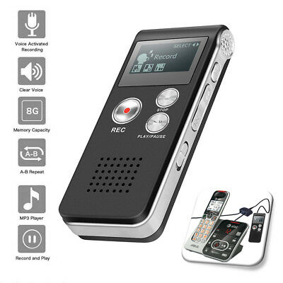 Digital Voice Recorder Dictaphone Audio Sound Recorder Mini Small MP3 Lecture