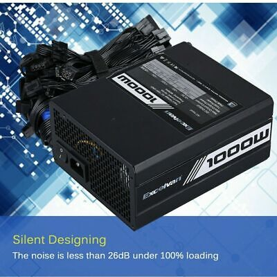 1000W Power Supply Switching Supports Intel AMD Fully Modular Double 6+P6+2PIN