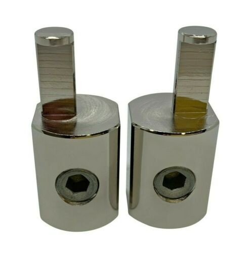 Pair ILL Customz Offset Power and Ground 1/0 Gauge to 4 Gauge Amp Input Reducers