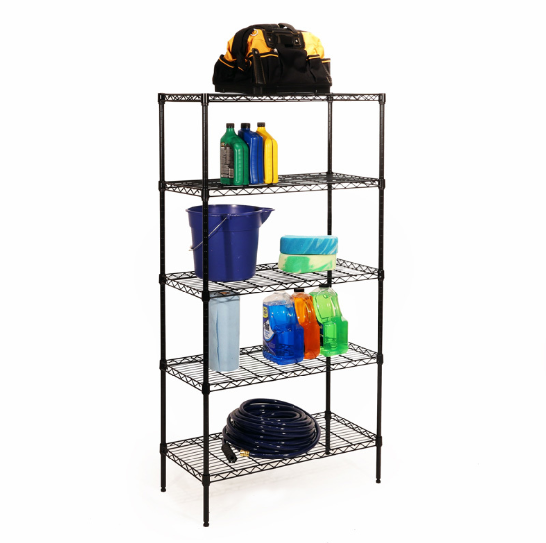 Seville Classics 5-Tier Black Epoxy Steel Wire Shelving, 30″ W x 14″ D x 60″ H Home & Garden