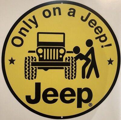 "Jeep Wrangler 12"" Metal Sign"
