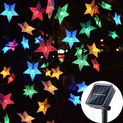 Solar Powered 100 LED String Fairy Lights Garden Party Decor Lamp STAR Garden Party Lights