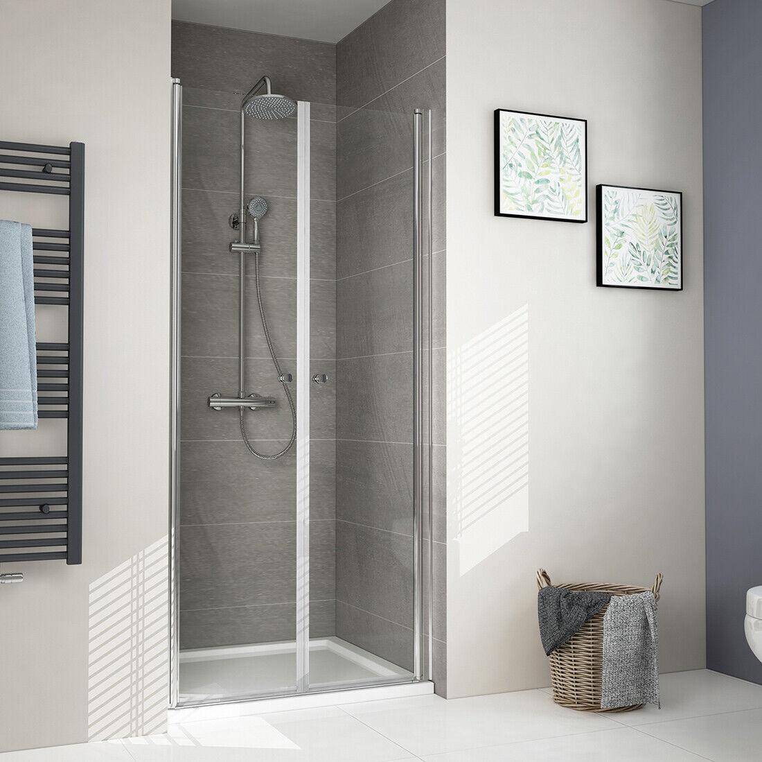 Duschtür Dusche Pendeltür 100 90 80 70 cm Nische Schwingtür Duschkabine Echtglas