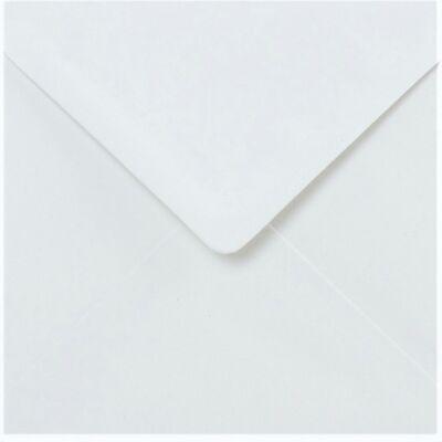 White Envelopes Square 5x5 Premium 130gsm Gummed Flap 50 Pack by Cranberry