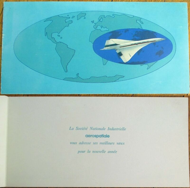 Aérospatiale/Aerospatiale 1980 New Year Greeting Card-Concorde Airplane-Aviation