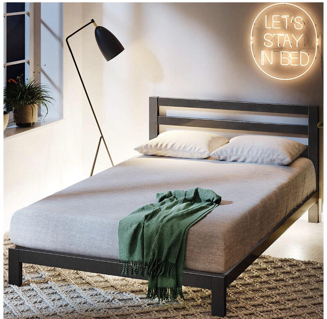 Modern Studio Platform 2000H Metal Bed Frame/Foundation with