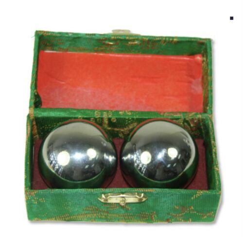 "Baoding Balls Chinese Health Exercise Stress Balls, Chrome Color 1.5"""