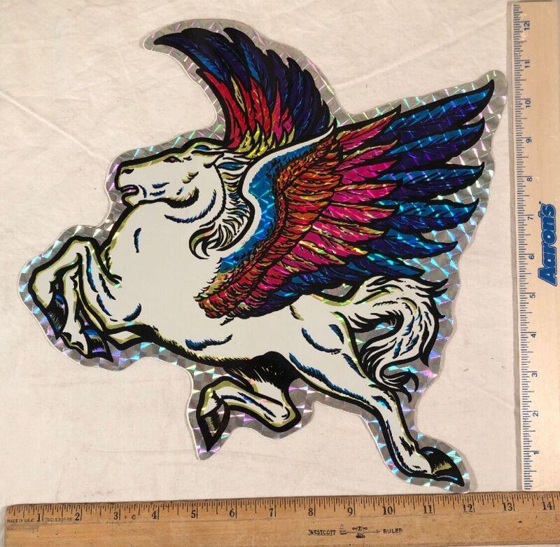 Vintage 1970s Large Pegasus Horse Decal Sticker Prism Prismatic Greek Mythology