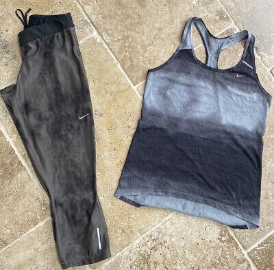 Nike pro gym set, Grey Vest S 3/4 Crop leggings M Yoga Dance Running
