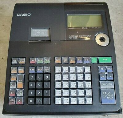 Casio Pcr-t470 Electronic Cash Register - In Box Power Cable Manual No Key