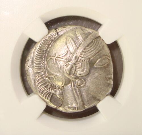 440-404 BC Attica, Athens Athena / Owl Ancient Greek Silver Tetradrachm NGC AU