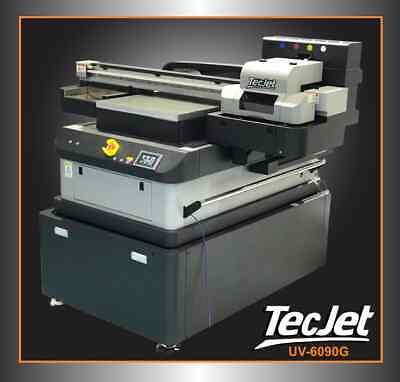 Tecjet 6090g 24 X 36 Uv Flatbed Printer Cmykwvarnish - Bulk Ink 57601440dpi