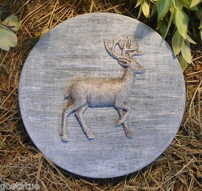 Deer small stepping stone mold concrete plaster casting mould