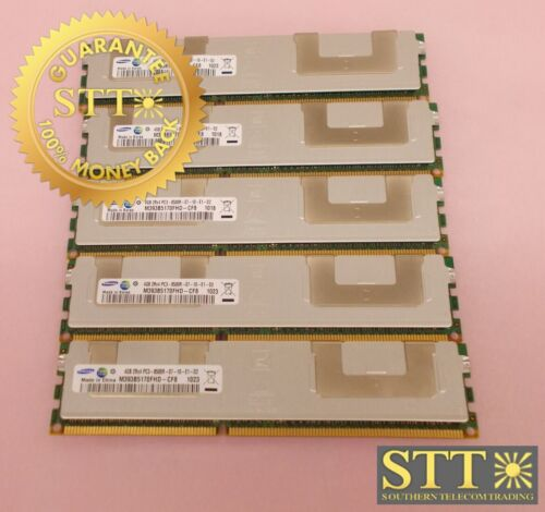 M393b5170fhd-cf8 Samsung 4gb 2rx4 Pc3-8500r-07-10-e1-d2 Ddr3 Ecc Rdimm(lot Of 5)
