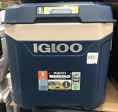 Igloo MaxCold Latitude 58 Litre (62QT) Rolling Cool Box Ice Cooler 98 Cans