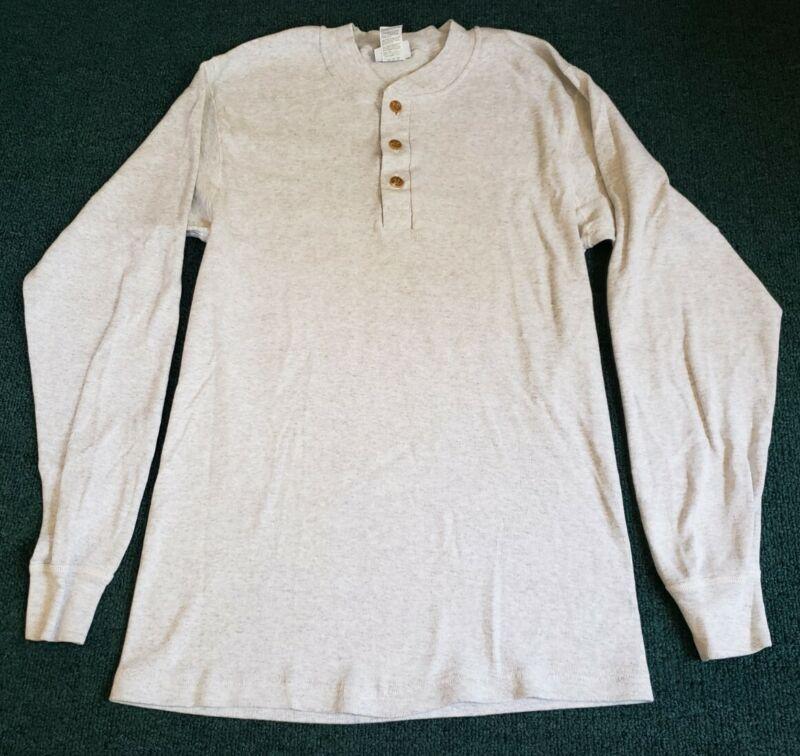Vintage Duofold Thermal Heather Gray Longsleeve Shirt Mediun