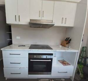 Kitchen cabinets, Oven, induction cooktop, exhaust fan for sale!!