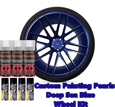 Dyc Performix Plasti Dip Pearl Wheel Kit 4 Matte Black 3 Deep Blue Sea Spray Can