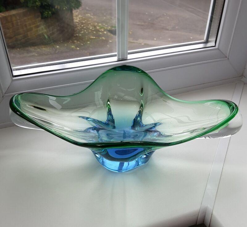 Vintage Czech Chribska art glass bowl