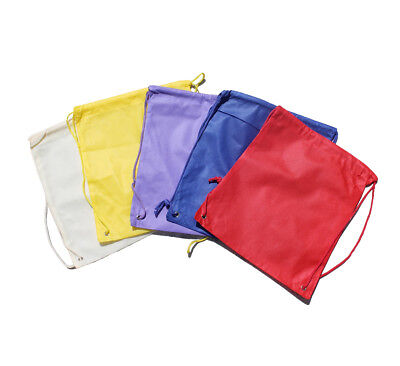 KIDS Drawstring Bags Various Colors Holiday Gifts PERSONALIZED -