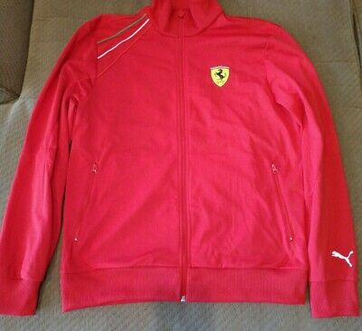 Puma Scuderia Ferrari Men's Full Zip Racing Track Jacket Red