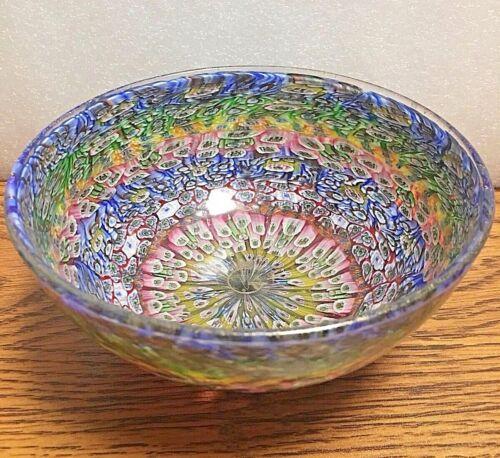 Genuine Amedeo Rossetto Murano Art Glass Mosaic Murrine Bowl Signed