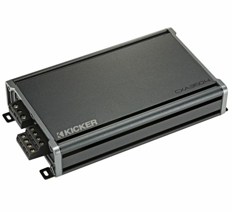 Kicker 46CXA3604 Car Audio 4 Channel Class A/B Speaker or Sub Amplifier CXA360.4