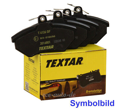 TEXTAR Bremsbeläge HA für BMW 1er (F20,F21),2er (F23,F22,F87)