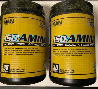 MAN Sports Iso-Amino - Dork - 2 pack of 30 Serving each Best