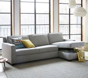 Sofa sectionnel (sofa lit) comme neuf
