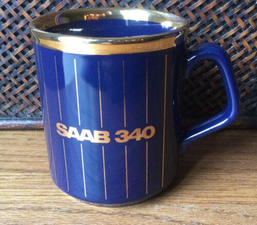 Saab 340 PenAir Blue Gold Mug Coffee Cup Made In England TAMS - $10.99