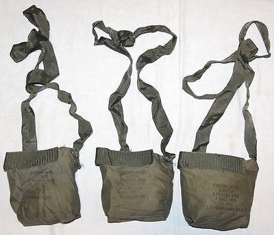 LOT OF 3, M-60 MG 100RD BELT, CLOTH AMMO BANOLEERS W/ SHOULDER STRAPS