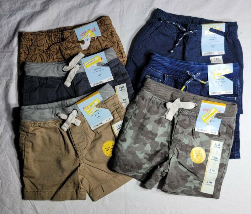 Cat & Jack Infant Toddler Boy 12 Momth Shorts Lot Of 6 New