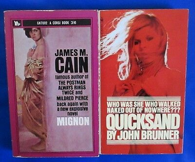 LOT of 2 Drama Paperbacks C21 John Brunner James M. Cain VGN
