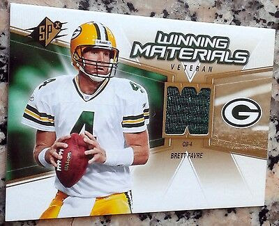 BRETT FAVRE 2006 SPX Winning Materials Green Jersey Packers Superbowl Ring HOF for sale  Morgan Hill