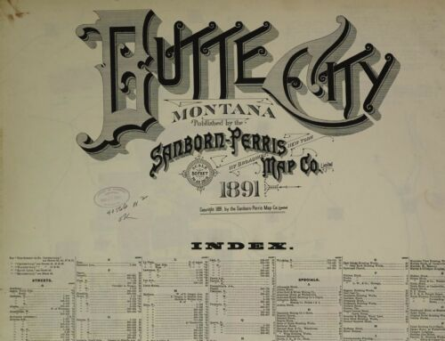 Butte City, Montana~Sanborn Map© sheets made in 1891~53 maps on CD  in COLOR