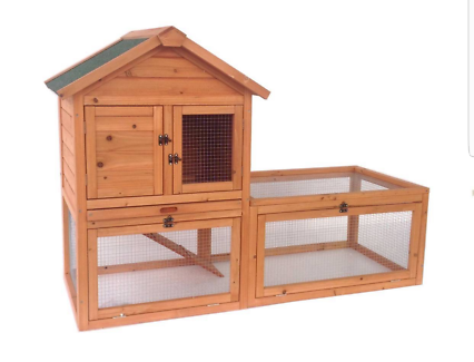New Chicken Coop Rabbit Hutch Cage Guinea Pig Hen House Hutch