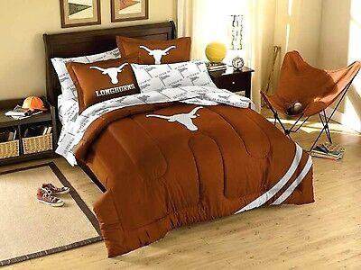 Texas Longhorns comforter 3PC 76x86 FULL size 2 shams FREE SHIPNG UT bedding Texas Longhorns Comforter
