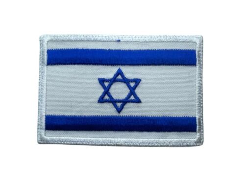 Israel Flag Jewish Star of David Iron on Quality Embroidered Patch PPM F4D22G