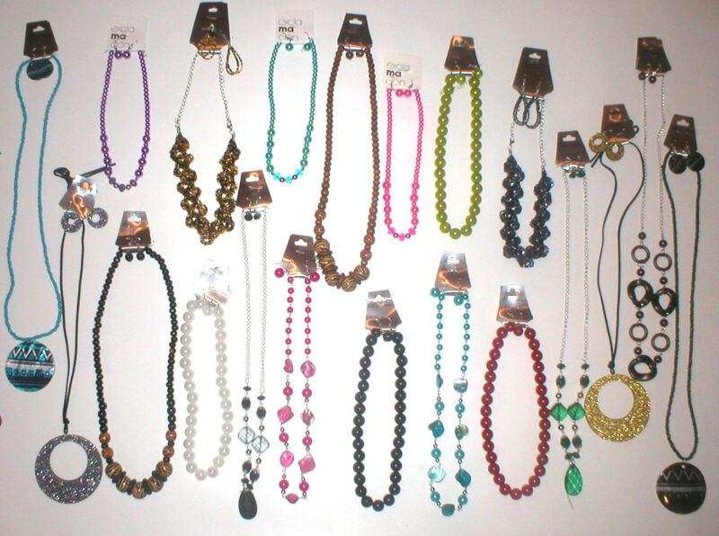 WHOLESALE LOT 402PC JEWELRY NECKLACE EARRING SETS WOMENS FASHIONS SALE NEW