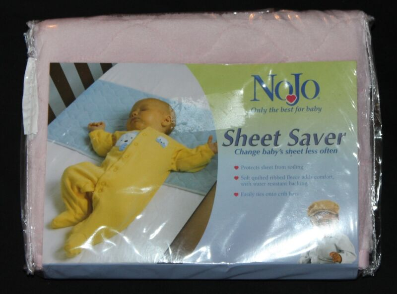 NoJo Sheet Saver Pink crib sheet protector new in pkg
