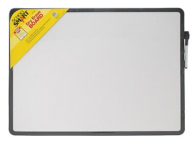 School Smart Dry Erase Board With Black Marker 16 X 22 Inches Black Frame