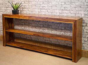 Jali Open Cube Sideboard Solid Sheesham Wood Dakota Style Bookcase Unit CUB