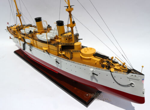 "USS Olympia Protected Cruiser Handmade Wooden Ship Model 40"" Scale 1:100"
