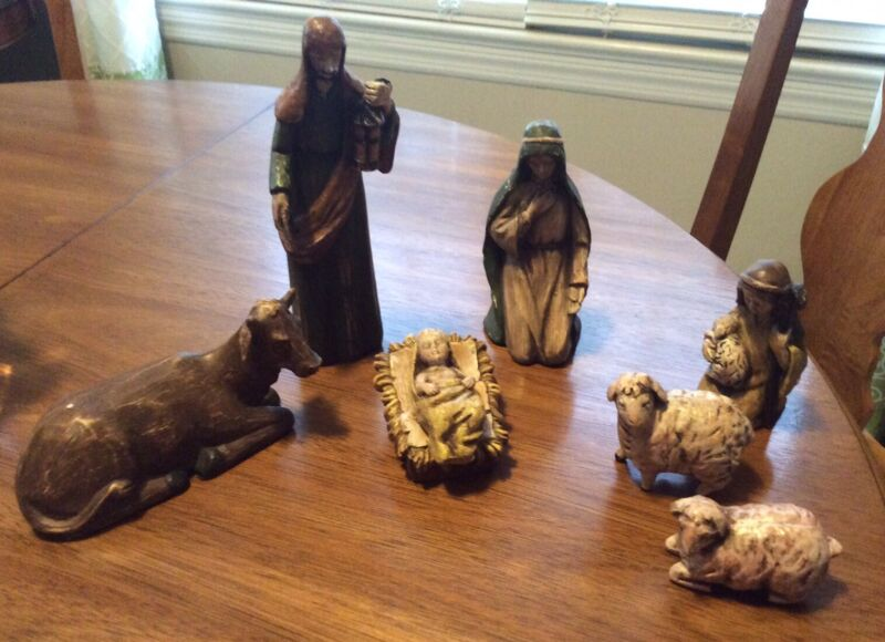 Southern Living at Home Santos Nativity Holy Family  Retired New In Box