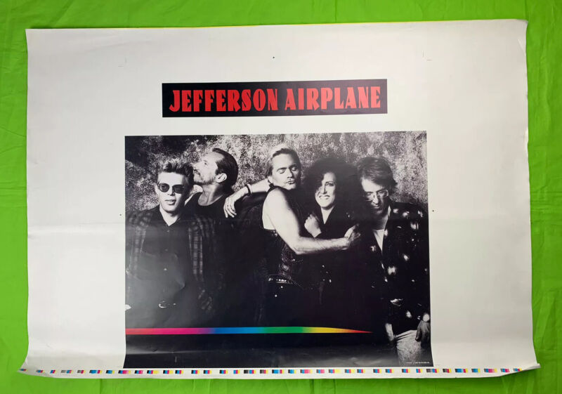 Rare Jefferson Airplane Poster 1989 CBS Records 40x28