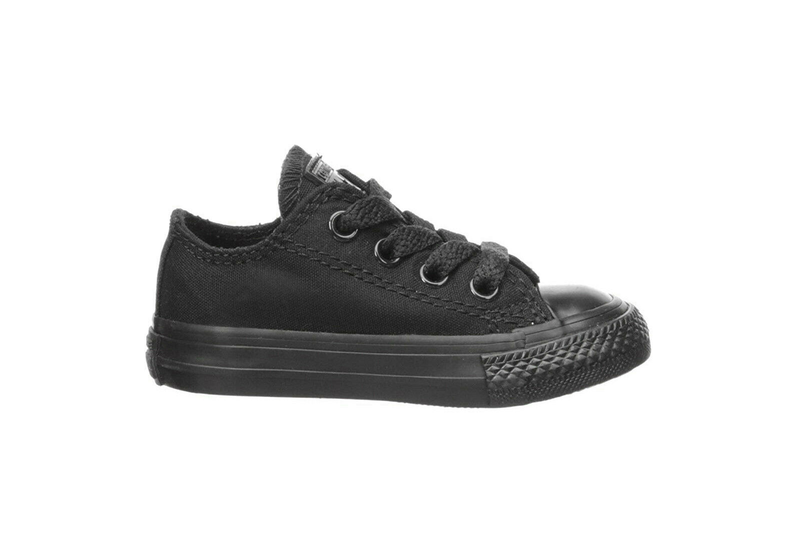 Converse Infant All Star Low Top Shoes All Black Chucks Toddler Girls 714786 1