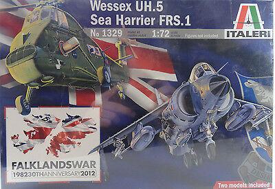 Italeri Wessex UH.5 & Sea Harrier FRS.1 1:72 Plastic Model Kits 1329